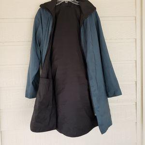 Mycrapac Now reversible raincoat hat black/blue